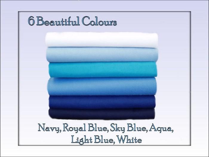Eco Friendly Viscose Felt,  Fabric Squares, 12 pieces, Blue Shades