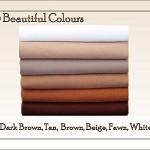 WOOL FELT Fabric Squares,12 squares, Brown Shades