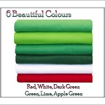Chemical Free Felt Fabric Squares, Green/Red Shades 12 squares