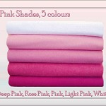 ***WOOL FELT**** Fabric Squares Pink Shades 10 Squares