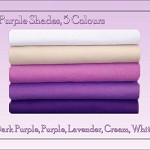 WOOL FELT Fabric Squares Purple Shades