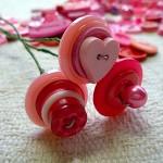 Tutorial, DIY button flowers, PDF