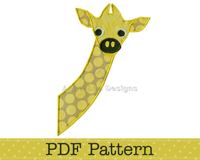 Baby Giraffe Applique Template Animal Diy Children Pdf