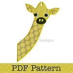 Baby Giraffe Applique Template, Animal, DIY, Children, PDF Pattern