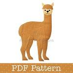 Alpaca Applique Template, Animal, DIY, Children, PDF Pattern
