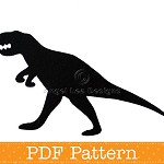 T-rex Applique Template, Tyrannosaurus Rex Dinosaur, Boys DIY PDF Pattern