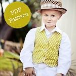 Vest Pattern. PDF Sewing Pattern for Little Lads' Reversible Vest. E-book, Boys