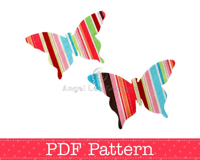 Butterfly Applique Template, DIY, PDF Pattern for Children