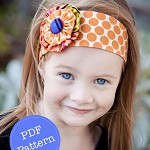 Funky Flower Headband Pattern. PDF Sewing Pattern and Tutorial, Reversible, DIY