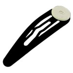 20pcs Black Snap Hair Clip - 5cm