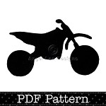 Dirt Bike Applique Template, Motorbike, Motocross, Transport, DIY, PDF Pattern