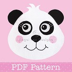 Panda Applique Template PDF Pattern Fabric Applique Bear Animal DIY
