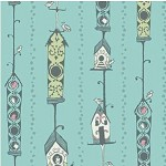 80cms - Bird House in Turquoise - Feather N Stitch by Sarah Wattts