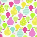 1.35mts Tossed Pears in Multi from Tutti Frutti by Timeless Treasures Fabric
