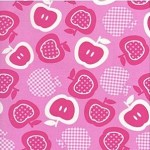 1/2 mtr - Tossed Apples in Pink from Tutti Frutti by Timeless Treasures Fabric