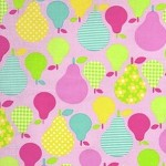 2.4mtrs - Tossed Pears in Pink from Tutti Frutti by Timeless Treasures Fabric