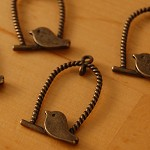 4pcs Antique Bronze Style Bird Charm