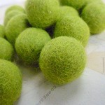 Felt Balls x 20 - Lime Green - 2cm