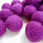 Felt Balls x 20 - Purple - 2cm
