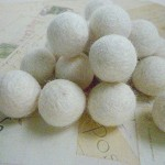 Felt Balls x 20 - White - 2cm
