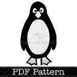 Penguin Applique Template, Bird, Animal, DIY, PDF Pattern for Children