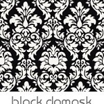 Michael Miller Dandy Damask Black - Half Yard Cotton