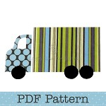 Truck Applique Template, Lorry, Transport, DIY, PDF Pattern for Children, Boys