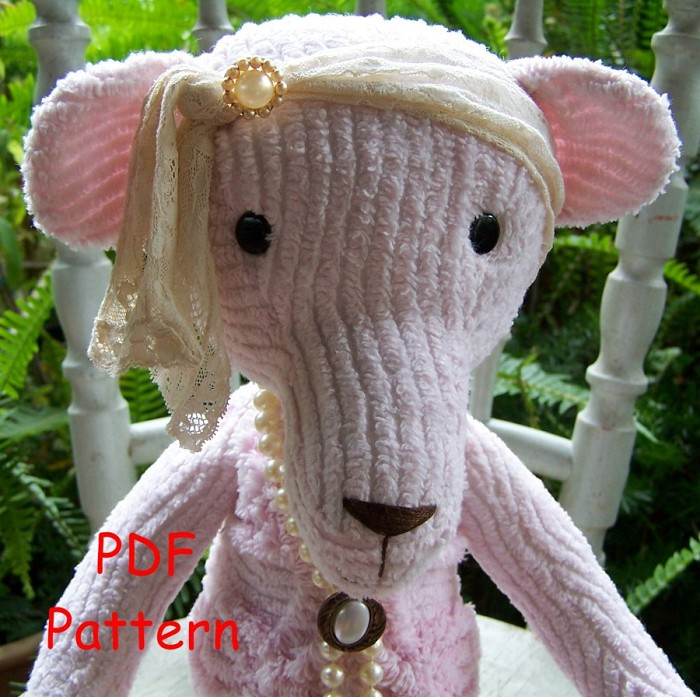 PEARL Bear from Vintage Chenille PDF Pattern