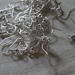 20 Silver Earring Hooks