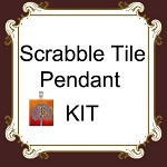 Scrabble Tile Pendant Starter Kit , 10 Scrabble Tiles,10 Clear Resin Drops