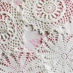 Lacy White Crochet Doilies - Vintage Doily (4)