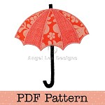Umbrella Applique Template. Children's Applique Designs.