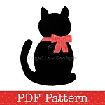 Cat Applique Template, Kitten, Animal, DIY, Children, Boy, Girl, PDF Pattern