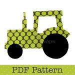 Tractor Applique Template, Transport, Farm, DIY, PDF Pattern for Children, Boys