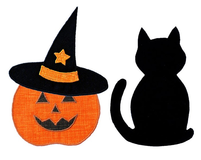 Witches Hat Applique Template. PDF Template. Halloween Applique ...