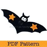 Bat Applique Template. PDF Template. Children's Halloween Applique Designs