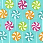 1.9 mtrs - Dessert Party - Lollypops in Sorbet by Ann Kelle for Robert Kaufman