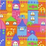 1/2 mtr -  Elephants on Parade in Multi - for Timeless Treasures