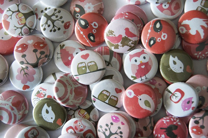 10 Valentine Critters Flat Backs Cabochons - Owls, birds and Love hearts