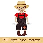Farm Boy Applique Pattern PDF Applique Template