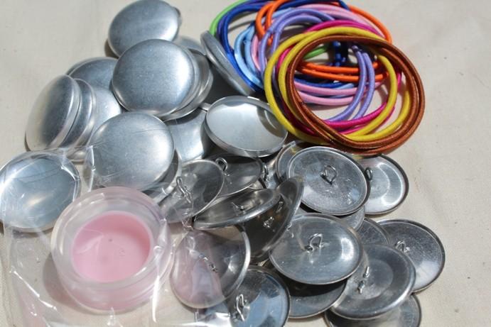 DIY 28mm button hair tie/ hair elastics kit | Scarlett Grace