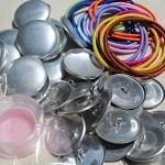 DIY 23mm button hair tie/ hair elastics kit