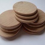 10 x 1.5 Inch rounded edge wooden disks