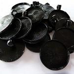 "10 x Round 1"" black pendant trays"