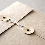 C6 Small Brown Kraft String and Button Envelopes - 5 Pack
