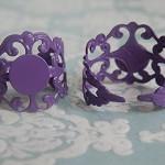 5 x Wild Violet Adjustable Filigree Rings