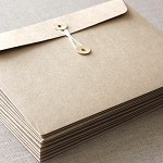 C5 Large Brown Kraft String and Button Envelopes - 5 Pack
