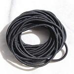 50 black hair ties/ hair elastics