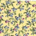 Patchwork - Quilting Fabric - Fat 1/4 - Floral with Yellow Background