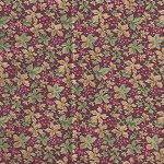 Patchwork - Quilting Fabric - Fat 1/4 - Floral with Maroon Background
